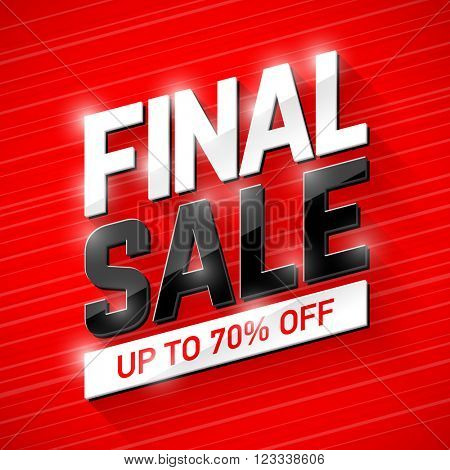 Final Sale banner. Special offer, big sale, clearance.