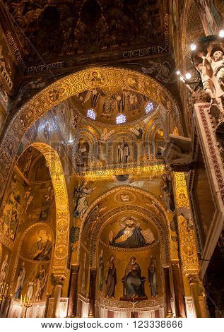 Christ Pantocrator from The Palatine Chapel PALERMO ITALY