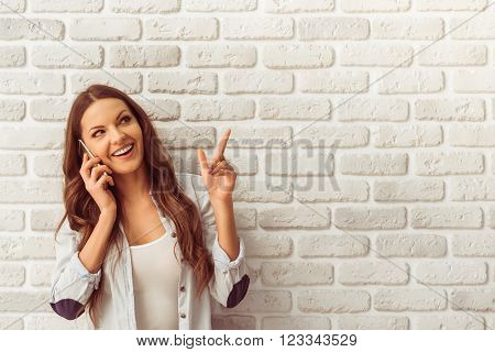 Beautiful Woman With Gadget