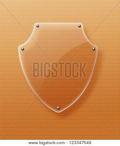 Glass framework Glass shield Vector illustration. Eps10