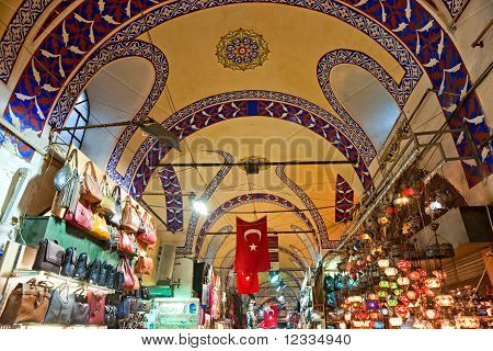 Großer Basar-Shops In Istanbul.