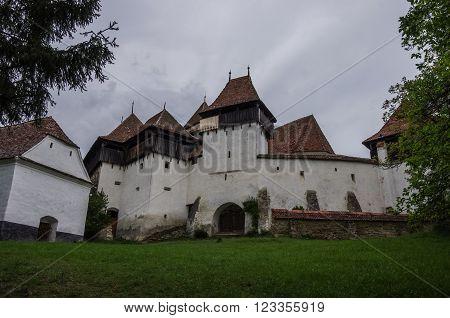 View Of Viscri Fortified Church (castle), Transylvania, Romania, Unesco Heritage