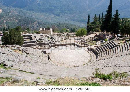 Ancient Theatre In Delphi Greece