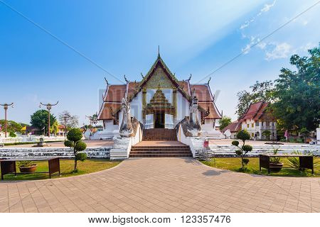 Wat Phumin is a unique thai traditional Temple of Nan province Thailand
