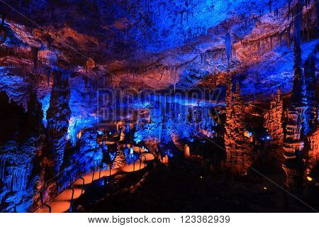 Avshalom Cave (Soreq Cave) a Stalactite Cave in Israel