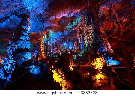 Avshalom Cave (Soreq Cave) a Stalactites Cave in Israel