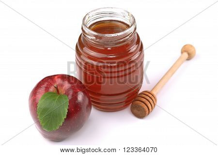Apple and honey - a traditional food for the jewish holiday of Rosh Hashana
