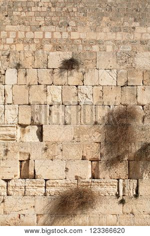 Western wall background, Old city of Jerusalem, Israel
