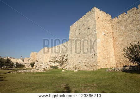 Walls of the old city of Jerusalem