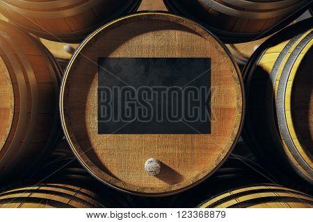 Barrel Top With Blackboard