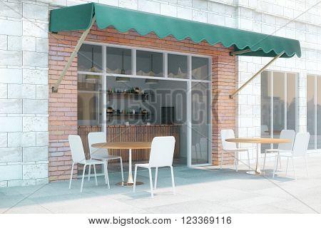 Cafe Exterior Side