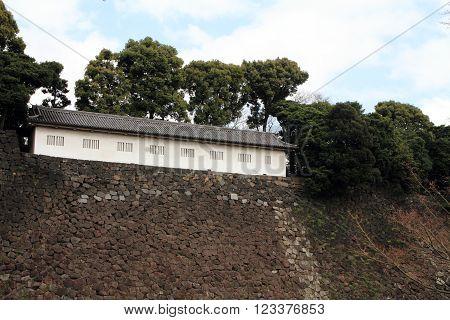 Fujimi defense house of Edo castle in Tokyo Japan