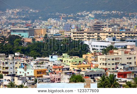 Visakhapatnam, INDIA - December 7 : Visakhapatnam is largest city in newly bifurcated Andhra Pradesh state in India, On December 7,2015 Visakhapatnam, India