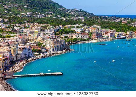 Ischia island - view from castle Aragonese, Italian holidays