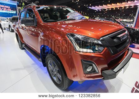 Isuzu car,showed in Thailand the 37th Bangkok International Motor Show on 24 March 2016