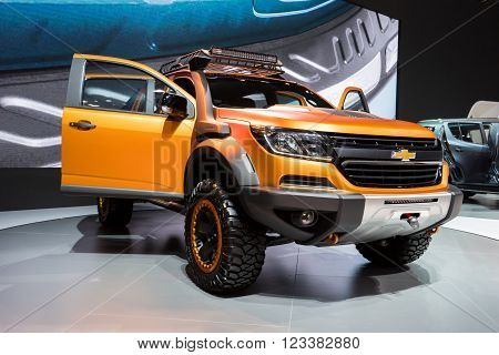 Chevrolet Colorado car,showed in Thailand the 37th Bangkok International Motor Show