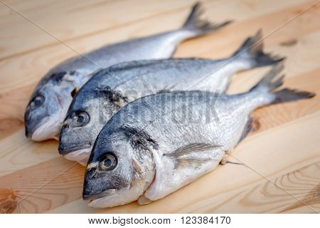 Cooking fish on the cooking appliance closeup