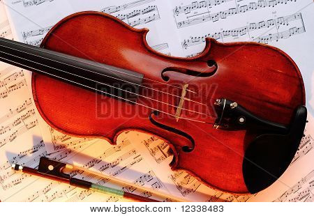 Violin with bow