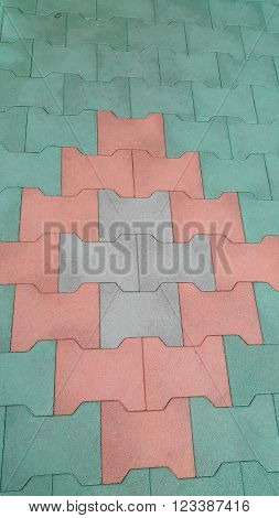 Closeup photo of rubber floor, can be use as background