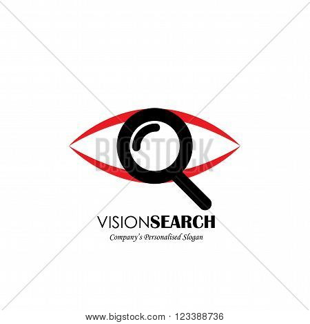 Vector Logo Icon Of Eyes And Search Symbol