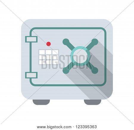 Safe icon. Safe logo. Safe symbol. Safe with code lock isolated, minimal design. Vector illustration.