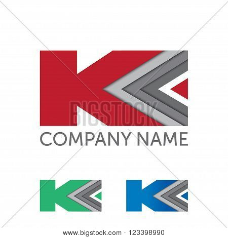 etter K logo icon design template elements. Vector color company logo. K letter business logo design template. Abstract vector elements for corporate identity emblem, label or icon