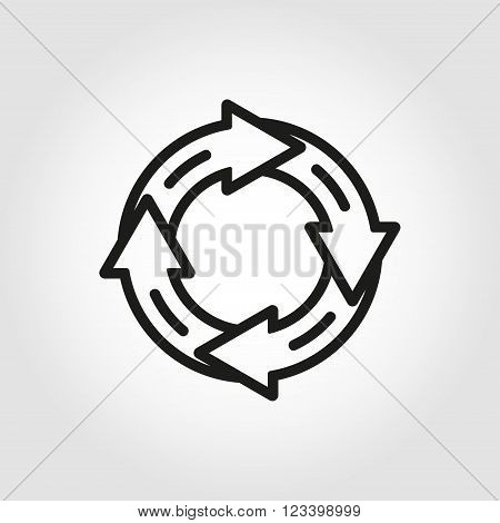 Vector line arrow circle icon. Arrow Circle Icon Object Arrow Circle Icon Picture Arrow Circle Icon Image - stock vector