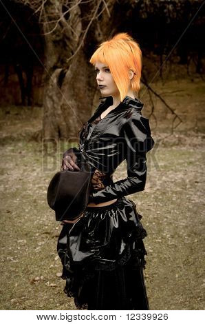 Beautiful Girl In Gothic Outfit