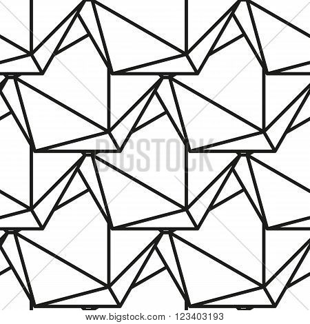 Icosahedron pattern, platonic solids, monochrome geometrical pattern