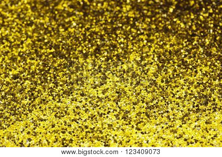 Close Up A Fine Shining Gold Glitter