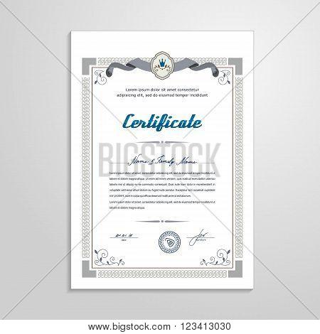 Certificate, Diploma - design template. A vector.