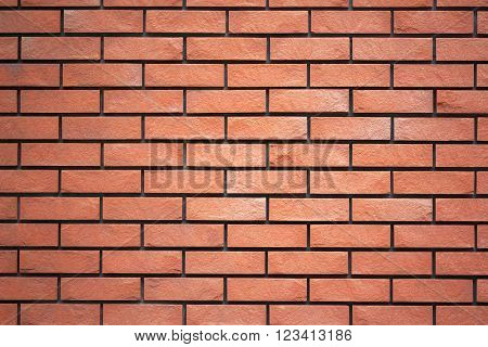 Red brick wall texture for background. Traditional ancient wall.