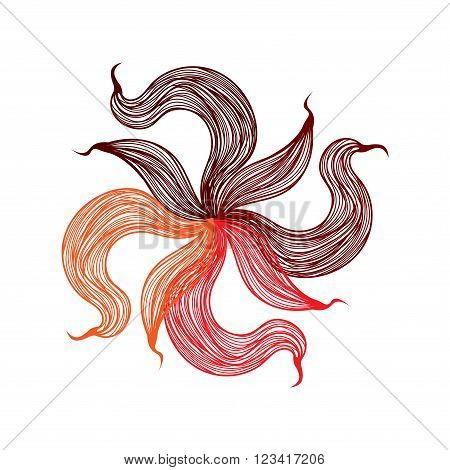 Bright Vector Flower On White