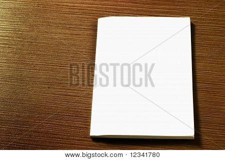 white book cover on the table