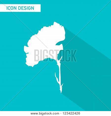 Flower flat icon vector design. vector illustration