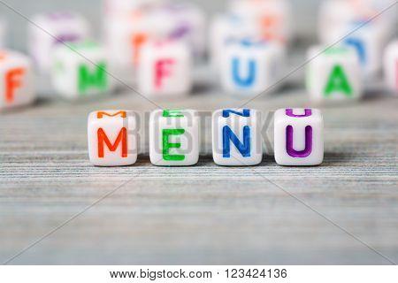 Word menu macro on the wood background