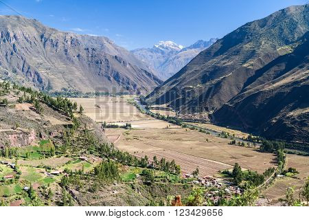 Sacred Valley Of The Incas And Urubamba River In  Peru