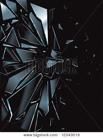 Broken Glass Black 1