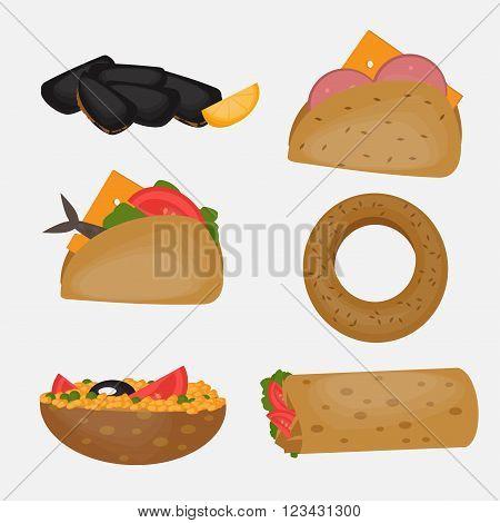 Turkish Fast food Traditional mediterranean street food Turkish cuisine.