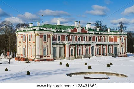 Kadriorg - the royal palace in the Baroque style in Tallinn