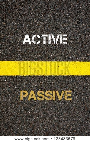 Antonym Concept Of Passive Versus Active