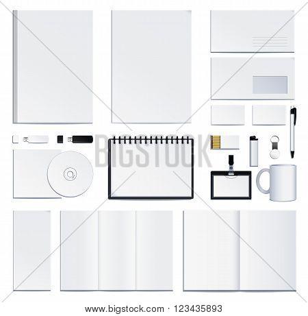 corporate identity presentation. Vector illustration isolated on white background.