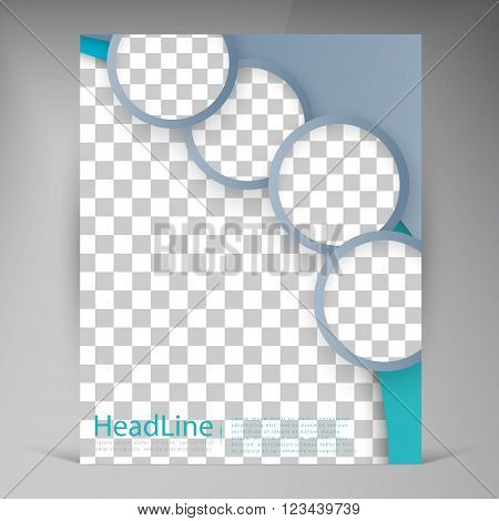 Abstract vector modern flyers brochure. Business brochure flyer design layout template in A4