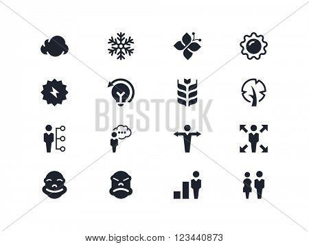 Environmental and people icons. Lyra series