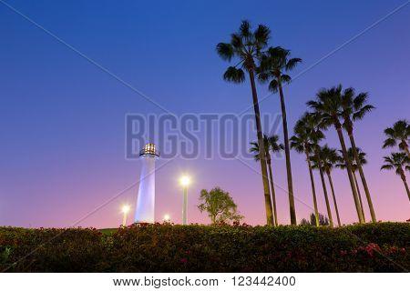 Long Beach, California, Harbor LIghthouse.
