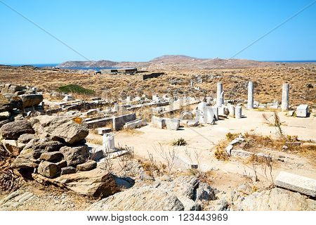 Archeology  In Delos Greece The   Acropolis And  Site