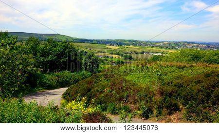 Fields on the West Pennine Moors near Darwen