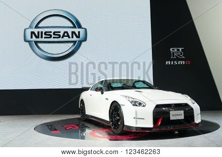 Nonthaburi - March 23: Nissan Gtr Nismo On Display At The 37Th Bangkok International Motor Show On M