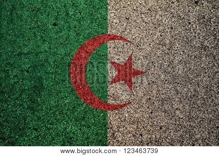 algerie flag with a vintage effect in the background