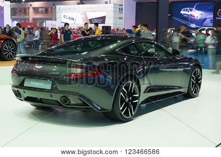 Nonthaburi - March 23: New Aston Martin Vanquish On Display At The 37Th Bangkok International Motor